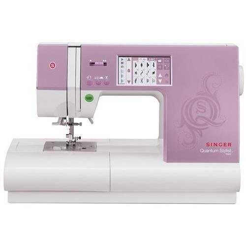 Singer 9985.CL Quantum Stylist Touch Electric Sewing Machine, 960 Built-In Stitches, 6 Block & Script Alphabets & Numerals, 13 Auto B/H, Auto Thread cutter (Singer Sewing Machine Quantum compare prices)