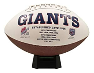 NFL New York Giants Signature Series Team Full Size Footballs by The License Products Company
