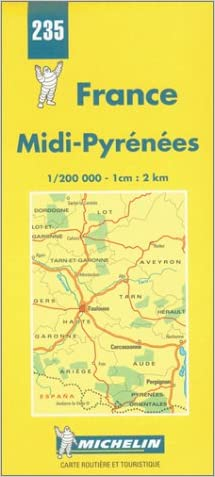 Michelin Midi-Pyrenees, France Map No. 235 (Michelin Maps & Atlases)