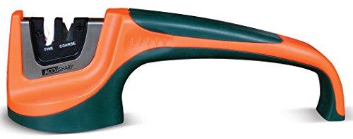 Accu Sharp 039C Pull-Through Knife Sharpener, Orange/Green