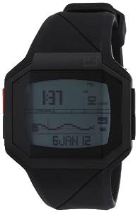 Quiksilver Men's Digital Surf Watch M128TR-BLK With Polyurethane Strap