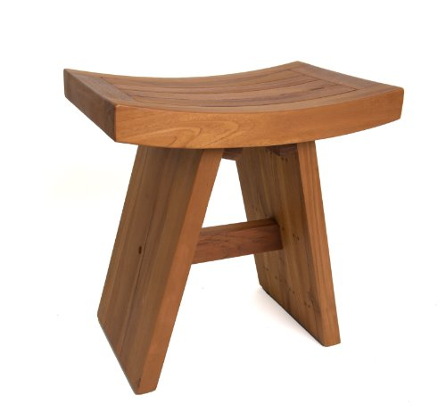 Solid Teak Indoor Outdoor Asian Stool #304