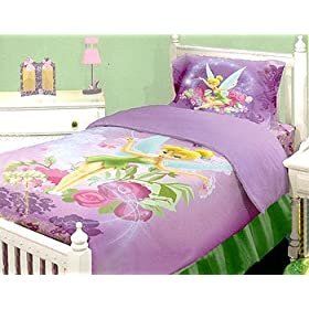 Disney Tinkerbell Neverland - Fairies Twin Comforter Bed Set