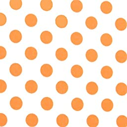SheetWorld Fitted Sheet (Fits BabyBjorn Travel Crib Light) - Neon Orange Polka Dots - Made In USA