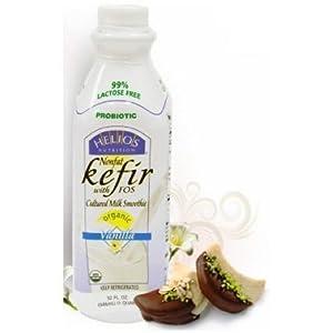 Amazon com helios nutrition organic non fat vanilla kefir 32 ounce