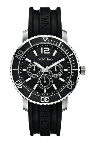 Nautica A16638G - Reloj de pulsera unisex, caucho, color negro