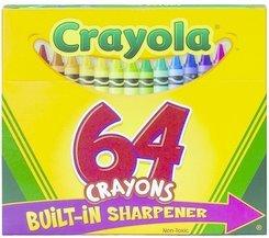 6PK BINN 520064 Crayola Crayon 64ct Box