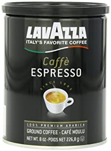 Lavazza Caffe Espresso Ground Coffee, 8-Ounce Cans (Pack of 4)