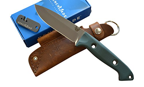 Benchmade 162 Bushcrafter Fixed Blade Knife w/ Free Benchmade Sharpener