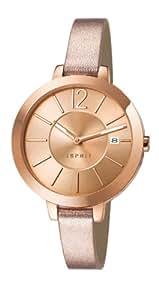 Esprit - ES107242002 - Montre Femme - Quartz Analogique - Cadran Doré - Bracelet Cuir Doré