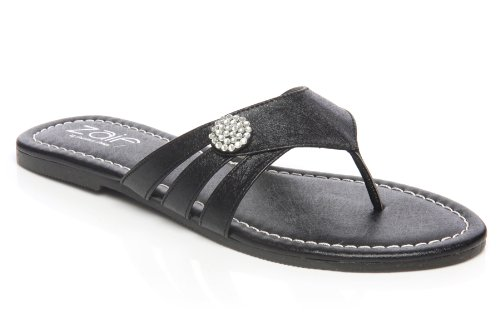 Cheap Unze Women Diamante Buckle Detailing Thong Summer, Casual, Day, Beach Party Slipper – Ai009 (B008CXPDTA)