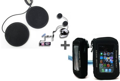 In-Helmet Mp3/Ipod Stereo Headsets + Motorcycle Magnetic Tank Bag Super Cool