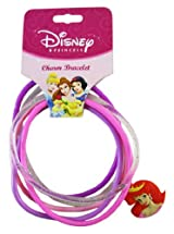 Disney Princess Ariel 6pc Charm Jelly Bracelets - Pink/Purple