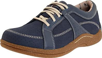 Drew Shoe Women's Geneva,Denim Leather/Nubuck,5.5 EE US