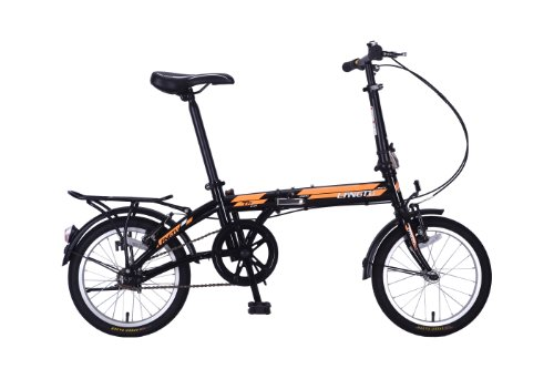 New Folding Bike 16 Inches Mountain Bike Bicycle High-carbon Steel for All Ages