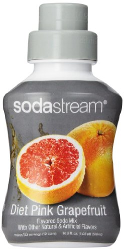 SodaStream Diet Pink Grapefruit Syrup, 16.9 Ounce