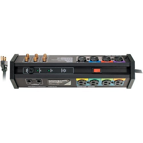 Monster Power Pc1000 8 Outlet Home Office/Home Theater Power Center front-599508