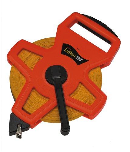 Lufkin 1708 1/2-Inch X 200 Hi-Viz Orange Open Reel Linear Fiberglass Tape front-623438