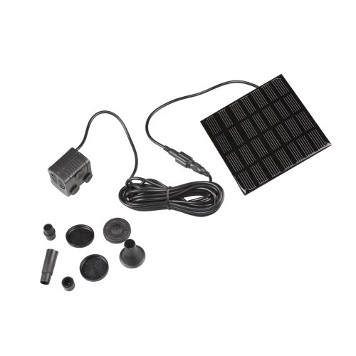 Ebest - Solar Powered Panel Water Pump Pond Fountain Pool, Black