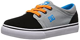 DC Trase Slip Youth Shoes Skate Shoe (Toddler), Armor/White/Orange, 8 M US Toddler