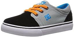 DC Trase Slip Youth Shoes Skate Shoe (Toddler), Armor/White/Orange, 5 M US Toddler