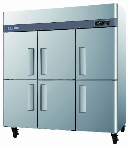 6 half door Refrigerator, Reach-in, three-section, 72 cu. ft.