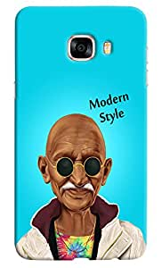 Omnam Mahatma Gandhi Printed in modern look with sunglass for Samsung Galaxy C5