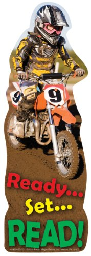 Eureka Bookmarks, Set of 36, Die Cut Dirt Bike (843059)