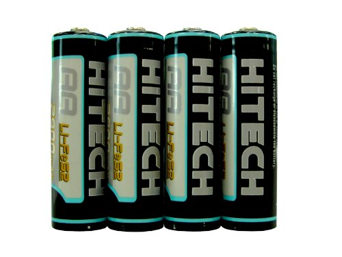 Hitech - 4 Aa Lithium 2900mah Batteries For Microsoft Wireless Notebook Optical Mouse 3000 - Also Works In Any Mouse That Uses Aa Batteries! Picture