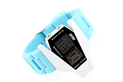 Christmas Big Promotion (Buy One Get One Free Only 6 Days)!! Skmei Men Women Favorite Lovers Wristwatch Unisex Sister Watch (Ylwa3013-Bu, Light Blue)