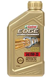 Castrol 06240 EDGE 0W-20 Titanium Synthetic Motor Oil - 1 Quart Bottle, (Pack of 6) by Castrol