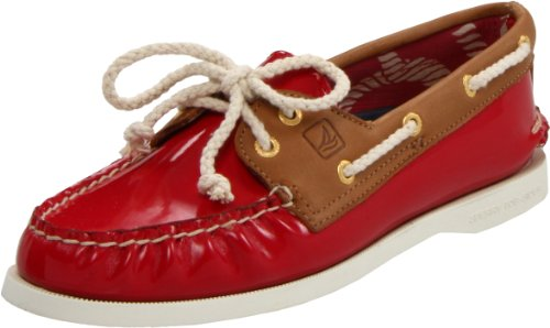 Sperry Top-Sider Women's AO Pat Boat Shoe,Red,7.5 M US
