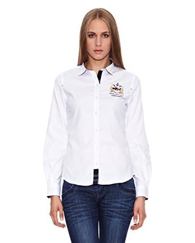Valecuatro Camisa Mujer Caballos Blanco