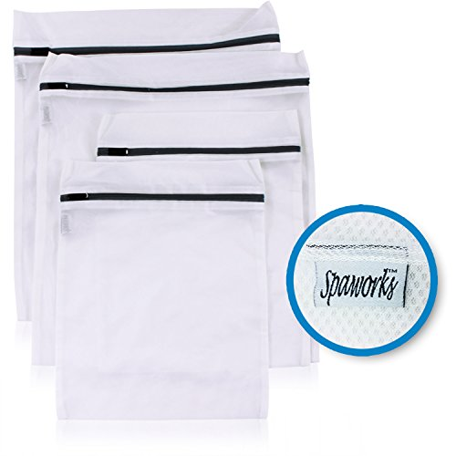 Spaworks Premium Laundry Wash Bags - 4 Pack - for Delicates Intimates Lingerie and Hoisery