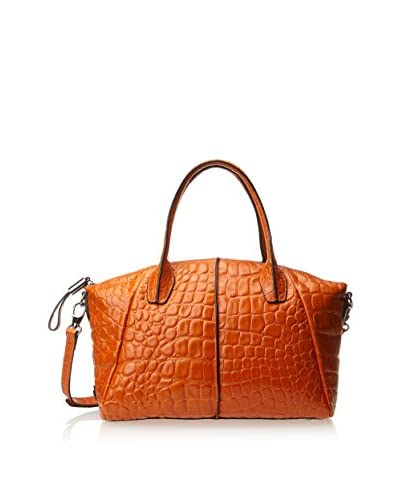 Charles Jourdan Women's Della Croco Satchel, Orange