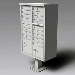 1570 Cluster Box Unit (16 Box Unit) Finish: Postal Gray