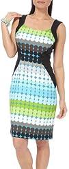 London Times Polka Dot Border Sheath Dress