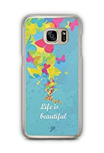 YuBingo Life is Beautiful Designer Mobile Case Back Cover for Samsung Galaxy S7 Edge