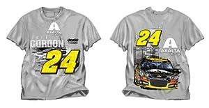 NASCAR Jeff Gordon #24 Mens Grey Restart Tee T-Shirt by Checkered Flag