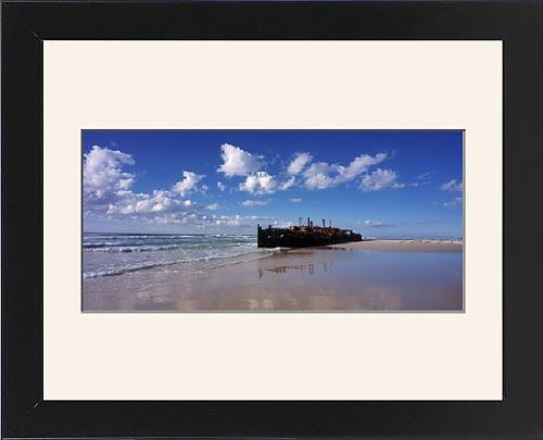 Framed Print of The wreck of the a x2019;Mahenoa x2019;, a luxury passenger ship, wrecked in