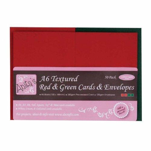 anitas-texturierte-karten-und-umschlage-a6-50-stuck-rot-grun