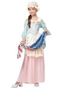 California Costumes Colonial Lady/Betsy Ross/Martha Washington/Ch Costume, Medium