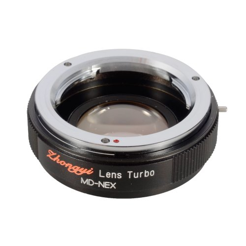 Focal Reducer Speed Booster Adapter Lens Turbo (MD-NEX) for Minolta MD to Sony NEX5 6 7 Camera