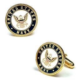 Enamel United States US Navy Cufflinks