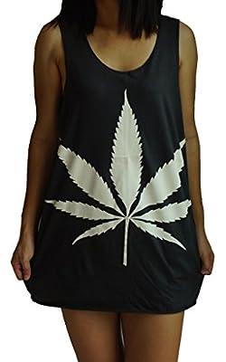 Cannabis Marijuana Weed Dope Vest Tank-Top Singlet T-Shirt
