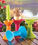 A SET OF 4 FROZEN TREAT HOLDERS -One End Is Designed To Hold A Popsicle Stick, And The Other Can Hold An Ice Cream Cone No More Dripping Messes!