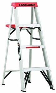 Black  6 Decker Black 6 Decker Black & Decker BXL2210-04 4-Feet 225 Pound Duty Rating Aluminum Step Ladder Type II