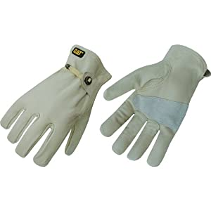 Cat Gloves Rainwear Boss Mfg CAT012110M Medium Leather Driver Glove