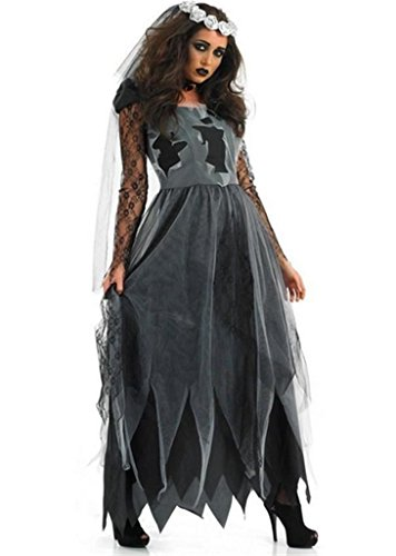 Totoer Women's Haunting Beauty Ghost Costume