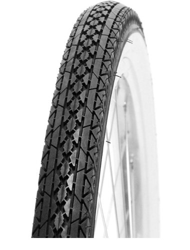 Nirve Classic Cruiser Bicycle Tire (Black/White Side Wall, 26-Inch)